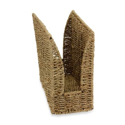 Household Essentials® High-Sided Seagrass Magazine Rack