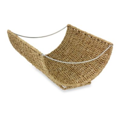 Household Essentials® Scoop Seagrass Magazine Rack