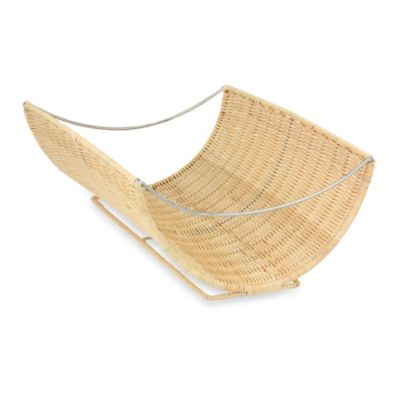 Household Essentials® Scoop Rattan Magazine Rack