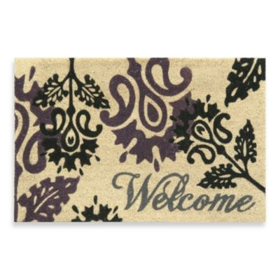 Foliates Coir Door Mat