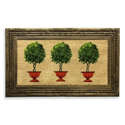 Framed Topiary Door Mat