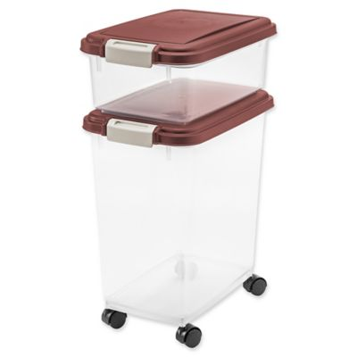 IRIS USA 3-Piece Airtight Pet Food Container Combo in Everglade