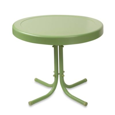 Crosley Griffith Outdoor Metal Side Table in Oasis Green