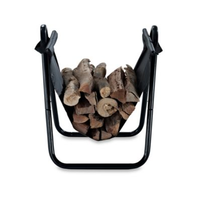 Crosley Logan Firewood Storage Carrier in Black
