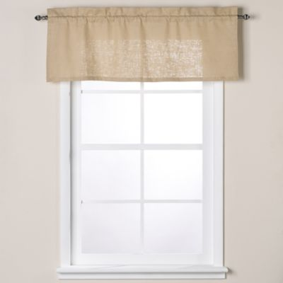 Soho 17-Inch Linen Window Valance in Indigo