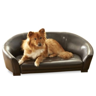 Enchanted Home Pet Winston Sofa Bed in Dark Brown