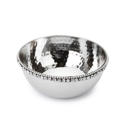 Classic Touch Stainless Steel Round Candy Dish