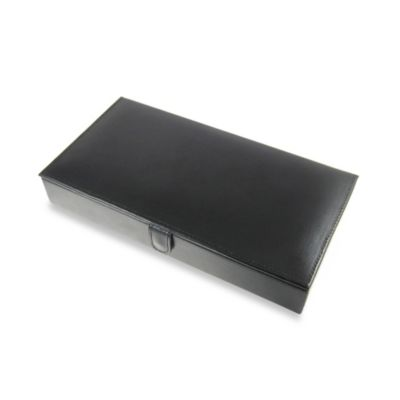 Leather 12-Pair Cufflinks Storage Box