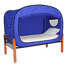 Privacy Pop Bed Tent in Blue