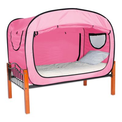 Privacy Pop Size Twin XL Bed Tent in Pink