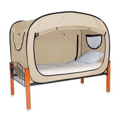 Privacy Pop Size Twin Bed Tent in Tan