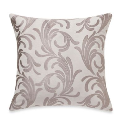 MYOP Royal Scroll Square Throw Pillow Cover in Taupe