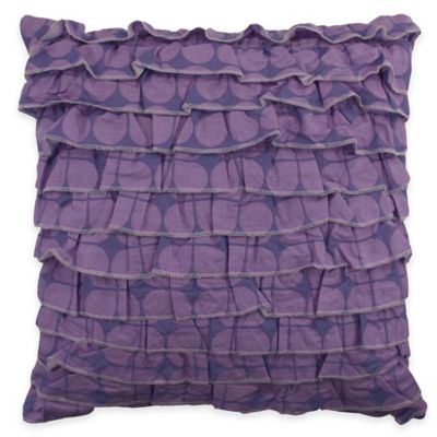 Lavender Shadow Botanical Square Throw Pillow