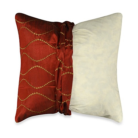 Throw Pillow Covers Bed Bath Beyond : Make-Your-Own-Pillow Delano Square Throw Pillow Cover in Red - Bed Bath & Beyond