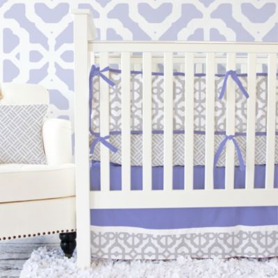 Caden Lane® Mod Lattice 2-Piece Crib Bedding Set in Lavender