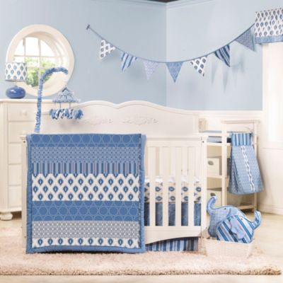 kidsline™ Dena Indigo 4-Piece Crib Bedding Set