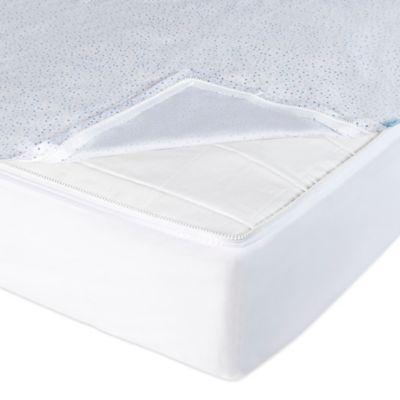 Blue White Crib Sheet