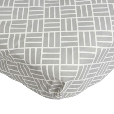 Caden Lane® Mod Lattice Fitted Crib Sheet in Grey/White