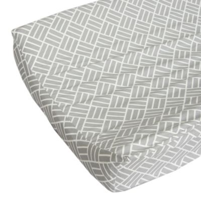 Caden Lane® Mod Lattice Changing Pad Cover in Grey/White