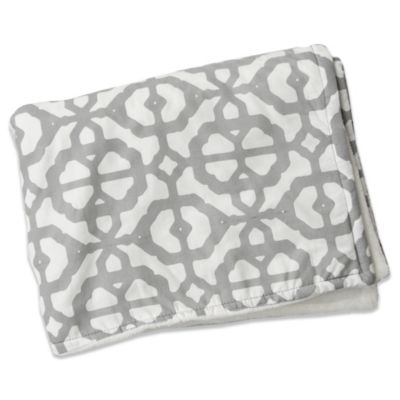 Caden Lane® Mod Lattice Crib Blanket in Grey