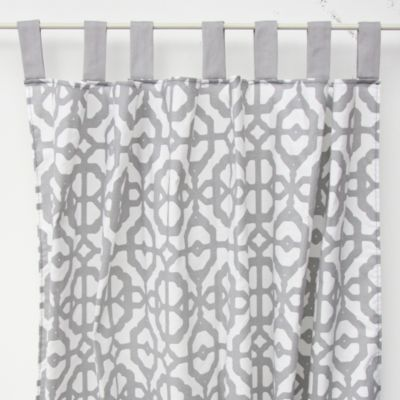 Caden Lane® Mod Lattice Window Panel Pair in Grey