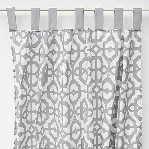 buy mod lattice white gray curtains from bed bath beyond