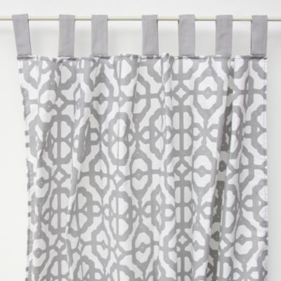 Caden Lane® Mod Lattice Curtain Panel in Grey/White (Set of 2)