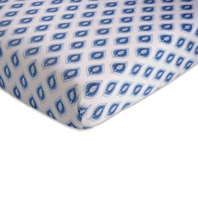 kidsline™ Dena Indigo Fitted Crib Sheet