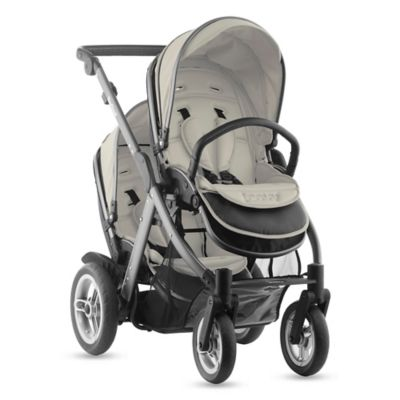 Joovy® Too Qool Double Stroller with Graphite Grey Frame in Vanilla