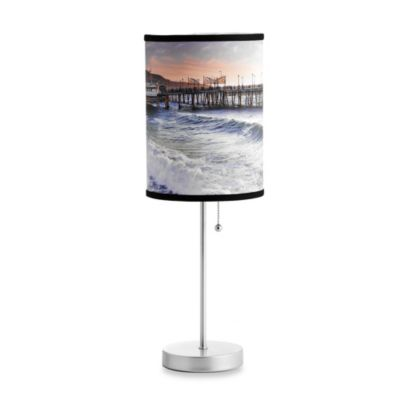 Redondo Pier Table Lamp with Silver Finish Base