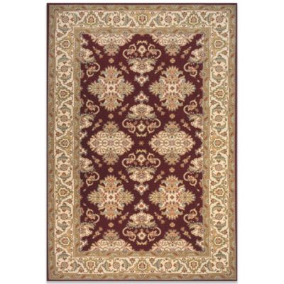Momeni Persian Garden 8-Foot Round Rug in Burgundy