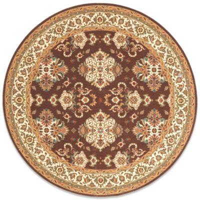 Momeni Persian Garden 8-Foot Round Cocoa Rug