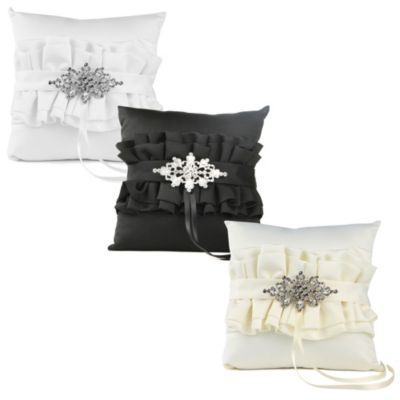 Isabella Ring Bearer Pillow in Black