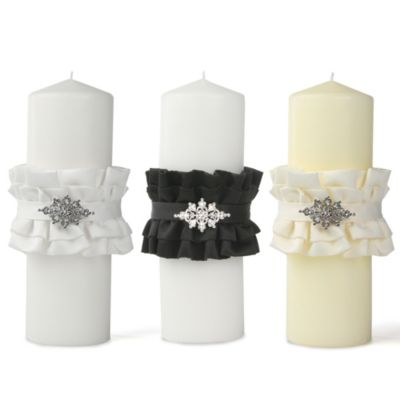 Ivy Lane Design Isabella Unity Pillar Candle in Ivory