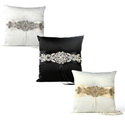 Ivy Lane Design Adriana Black Ring Pillow in Black