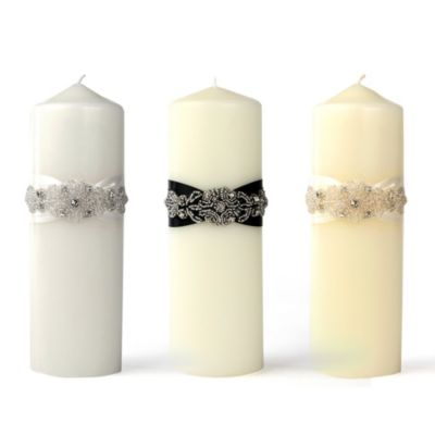 Ivy Lane Design Adriana Unity Pillar Candle in Ivory