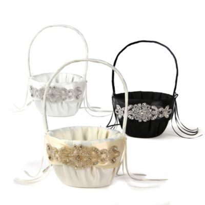 Ivy Lane Design Adriana Flower Girl Basket in Black