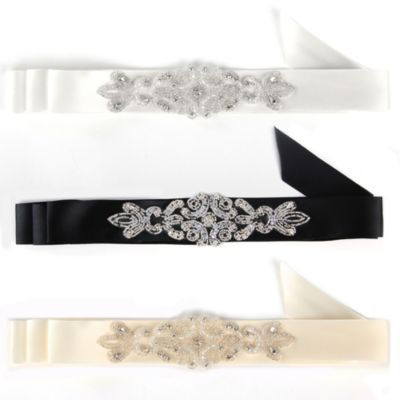 Ivy Lane Design Adriana Bridal Sash in Ivory