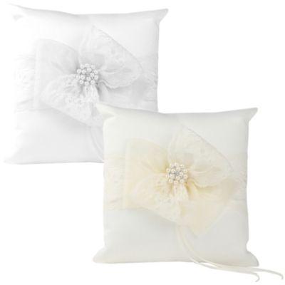 Ivy Lane Design Delilah Ring Pillow in Ivory
