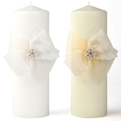 Ivy Lane Design Delilah Pillar Candle in White
