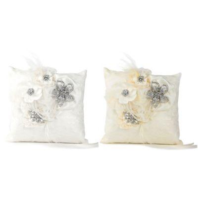 Ivy Lane Design™ Genevieve Ring Pillow in White