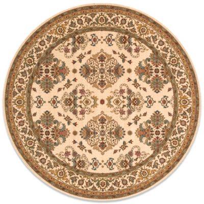 Momeni Persian Garden 8-Foot Round Ivory Rug