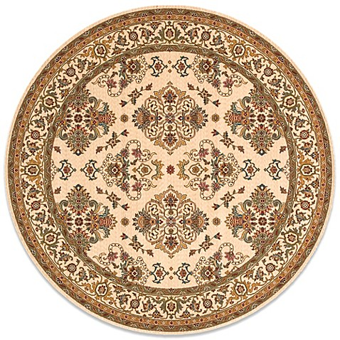 Buy Momeni Persian Garden 8 Foot Round Ivory Rug From Bed