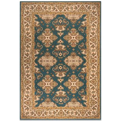 Momeni Persian Garden 8-Foot Round Teal Blue Rug