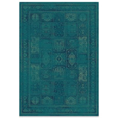 Safavieh Vintage 96-Inch x 134-Inch Palace Rug in Turquoise/Multi