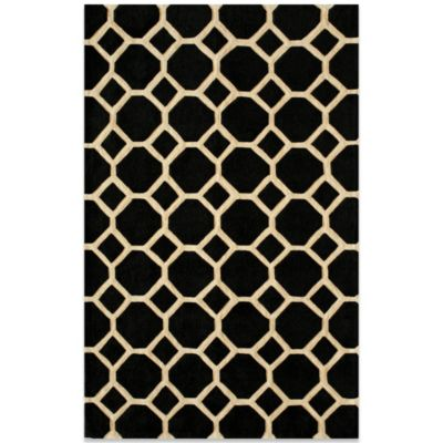 Momeni Bliss 3-Foot 6-Inch x 5-Foot 6-Inch Rug in Black Circles