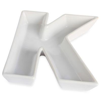 """Ivy Lane Design™ Ceramic Letter """"K"""" Candy Dish"""