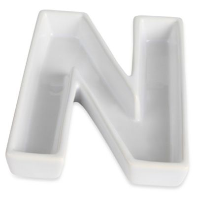 "Ivy Lane Design™ Ceramic Letter ""N"" Candy Dish"