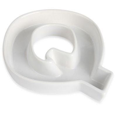 "Ivy Lane Design™ Ceramic Letter ""Q"" Candy Dish"