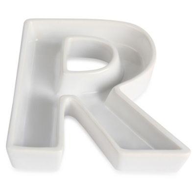 "Ivy Lane Design™ Ceramic Letter ""R"" Candy Dish"